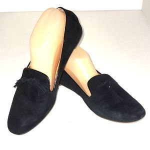 J.Crew Cora Black Tassel Smoking Loafer Shoe 9M